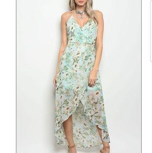 Dresses & Skirts - 💦MINT FLORAL DRESS